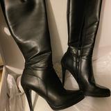 Nine West Shoes | Knee High Black Heel Boots | Color: Black | Size: 6.5