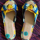 Kate Spade Shoes | Kate Spade Saltie Shore Espadrille Sandal | Color: Blue/Yellow | Size: 8