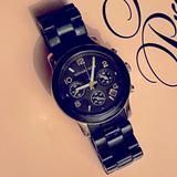 Michael Kors Accessories   Michael Kors Black Bracelet Silicon Coated Watch   Color: Black   Size: Os