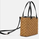 Zara Bags   Nwts Natural Basket Bag Black And Natural Color   Color: Black/Tan   Size: Various