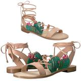 Kate Spade Shoes | Kate Spade | Salena Cactus Lace Up Ankle Sandals | Color: Green/Tan | Size: 8.5
