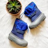 Columbia Shoes | Columbia Waterproof Powderbug Plus Ii Snow Boots | Color: Blue/Gray | Size: Size 3m