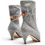 Zara Shoes | Like New Zara Woman Booties-376.5 | Color: Gray/Orange | Size: 37-Eur6.5 Us