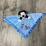 Disney Other | Disney Mickey Mouse Baby Security Blanket | Color: Blue | Size: Osbb
