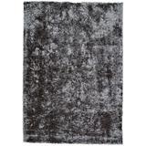 Kelim Lustrous Shimmering Shag Rug, Graphite/Deep Gray, 5ft x 8ft Area Rug - Weave & Wander 749R4116SLT000E10