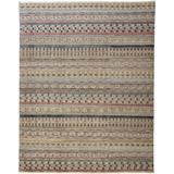 Eckhart Tribal Rug, Khaki Tan/Terracotta/Blue, 5ft - 6in x 8ft - 6in Area Rug - Weave & Wander 980R6498PNKMLTE50