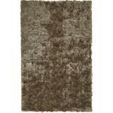 Kelim Lustrous Shimmering Shag Rug, Goloden Bronze, 5ft x 8ft Area Rug - Weave & Wander 749R4116TPE000E10