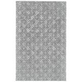 Hartford Tufted Lattice Wool Rug, Cool Gray, 5ft x 8ft Area Rug - Weave & Wander 718R8353GRYSLVE10