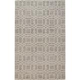 Veran Geometric Lattice Print Rug, Stone Gray, 5ft x 8ft Area Rug - Weave & Wander 868R8074STN000E10