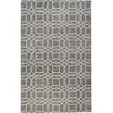 Veran Geometric Lattice Print Rug, Charcoal Gray, 5ft x 8ft Area Rug - Weave & Wander 868R8074CHL000E10