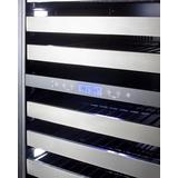 """""""24"""""""" Wide Dual-Zone Wine Cellar - Summit Appliance SWCP2163CSS"""""""