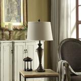 Christopher Traditional Bronze Metal Table Lamp - Crestview Collection AER660BRZSNG