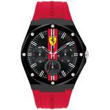 Aspire Red Silicone Strap Watch 44mm - Red - Ferrari Watches
