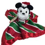 Hallmark Disney Itty Bittys Holiday Mickey Mouse Lovey Security Blanket Baby New