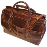 Floto Luggage Casiana Tote Leather Travel Bag, Vecchio Brown, Large