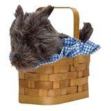 Basket Handbag with Dog