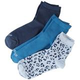 Hue Womens 3-pk. Leopard Mix Quarter Socks