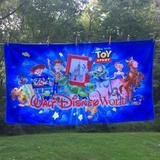Disney Bath   2 Disney World Parks Toy Story Beach Towels Lot 2   Color: Blue/Red   Size: 60 X 32