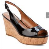 Coach Shoes   Coach Ferry Black Patent Leather Wedge Sandals   Color: Black   Size: 8.5