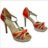 Jessica Simpson Shoes | Jessica Simpson Stiletto Heels | Color: Gray/Orange | Size: 8.5