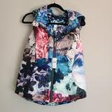 Anthropologie Jackets & Coats | Anthropologie Floral Reversible Puffer Down Vest | Color: Blue/Pink | Size: M
