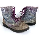 Sam Edelman Polly Sophia Sparkle Combat Boots