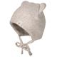 Fleece-Mütze BABY mit Ohren in hellbraun melange