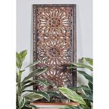 Monroe Lane Brown Wood Traditional Wall Décor - Set of 2