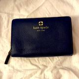 Kate Spade Bags | Kate Spade New York Leather Half Snap Wallet | Color: Blue | Size: Half Snap Wallet