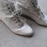Nine West Shoes | Nine West White Cowboy Dress Boots | Color: White | Size: 8