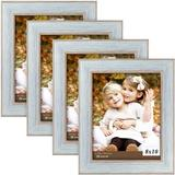 CROSTER 4 Wood Single Picture Frame Set in Black Wood/Wood/Gray Wood Wood in Blue, Size 0.6 D in | Wayfair CROSTERe24d0b2