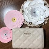 Kate Spade Bags | Brand New !! Natalia Medium Compact Bi Fold Wallet | Color: Cream/Gold | Size: Os
