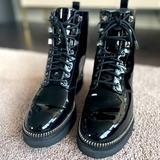 Michael Kors Shoes | Michael Kors Black Combat Boots | Color: Black | Size: 7.5