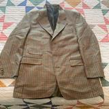 Burberry Suits & Blazers   Burberry Vintage Houndstooth Blazer (Us 42)   Color: Tan   Size: 42r