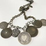 American Eagle Outfitters Jewelry   American Eagle Outfitters Aeo Coin Charm Necklace   Color: Gold/Silver   Size: Os
