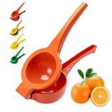 shanglixiansenxinmaoyi Manual Juicer Lemon Lime Squeezer,Metal Juicer Citrus Squeezer Press,Professional Hand Juicer Kitchen Tool | Wayfair in Orange