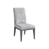 Lexington Lowell Upholstered Side Chair in Upholstered/Fabric in Gray, Size 40.0 H x 21.0 W x 28.0 D in | Wayfair 01-1847-12-40