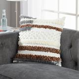 Sure Fit Surefit Sienna Throw Pillow Polyester/Polyfill/Polyester/Polyester blend, Size 18.0 H x 18.0 W x 1.0 D in | Wayfair 651348311534