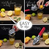 shanglixiansenxinmaoyi Jumbo Lemon Squeezer Juicer, Heavy Duty, Citrus Juicer in Red, Size 3.0 H x 3.34 W x 9.25 D in | Wayfair ZJWL05d548d