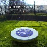 LAKEKYD Solar Lights Outdoor, Disk Lights Solar Powered - 8 Led, Outdoor In-Ground Solar Lights For Landscape, Walkway, Lawn, Steps Decks in Gray
