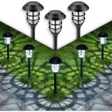 Old Hong Trading Solar Pathway Lights Outdoor, 8 Pcs Solar Powered Yard Lights, Waterproof Led Solar Landscape Lights For Yard, Lawn, Patio, Garden