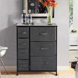 Rebrilliant 7 Drawer Storage Chest Metal/Fabric in Black, Size 28.74 H x 23.62 W x 11.81 D in | Wayfair A361EA3272C64CF1A61DD21EDB244A88
