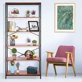 17 Stories Bookshelf Storage Shelves Heavy Duty, Industrial Shelf Storage, Wood & Metal Large Bookshelves in Yellow | Wayfair