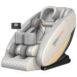 Inbox Zero Full Body Electric Shiatsu Massage Chair w/ Heat-Therapy Warm Massage Rollers Faux Leather in Black, Size 51.0 H x 32.0 W x 54.0 D in