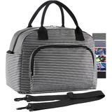 Prep & Savour Lunch Bag, Large Durable Insulated Water Proof Cooler& Thermal Lunch Box in Black/White, Size 9.0 H x 11.5 W x 7.0 D in   Wayfair