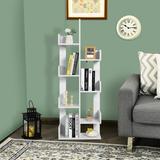 Latitude Run® 8-shelf Bookcase Modern Tree Bookshelf Storage Decor Freestanding Black Wood in White, Size 57.0 H x 20.0 W x 10.0 D in | Wayfair