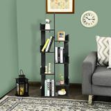 Latitude Run® 8-shelf Bookcase Modern Tree Bookshelf Storage Decor Freestanding Wood in Black, Size 57.0 H x 20.0 W x 10.0 D in | Wayfair
