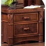 Bay Isle Home™ Woodlake 2 Drawer Nightstand Wicker in Brown, Size 23.0 H x 25.0 W x 19.0 D in   Wayfair 04BE93FFED2F43ACACF5EB0D324F55A0