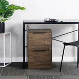 Millwood Pines Lateral File Cabinet w/ 1 Drawer + Metal Frame() Wood/Metal/Steel in Brown, Size 24.14 H x 15.17 W x 16.5 D in   Wayfair