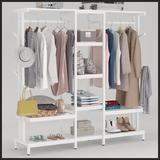 """17 Stories 71"""" W Closet System Wire/Metal/Manufactured Wood in White   Wayfair 0489473F74074EDD94CD5BAC1F7A91F5"""